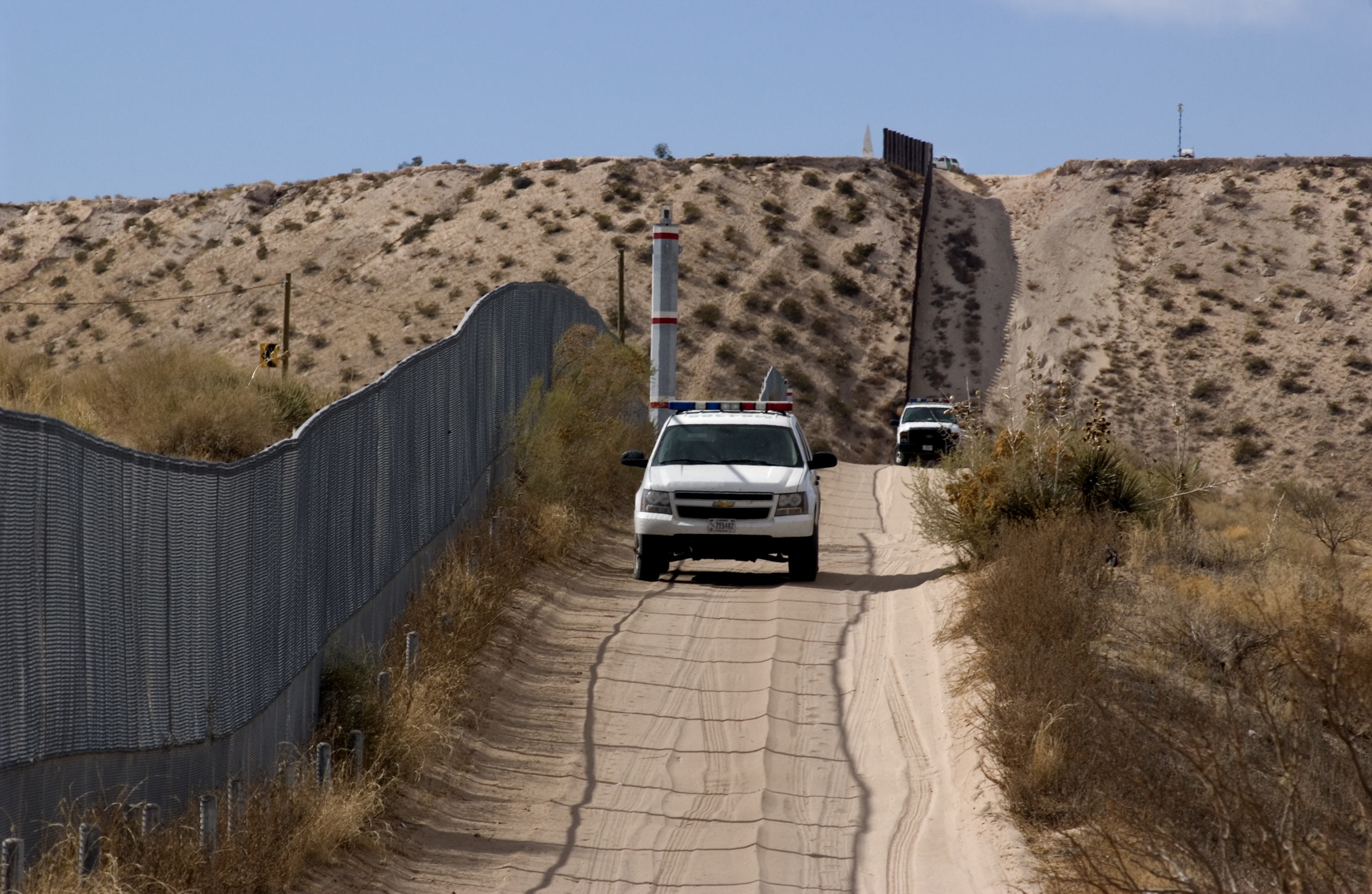 Border Fence and US Patrol