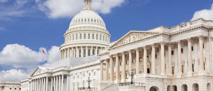 East facade of the US Capitol Building,  Washington DC, USA.