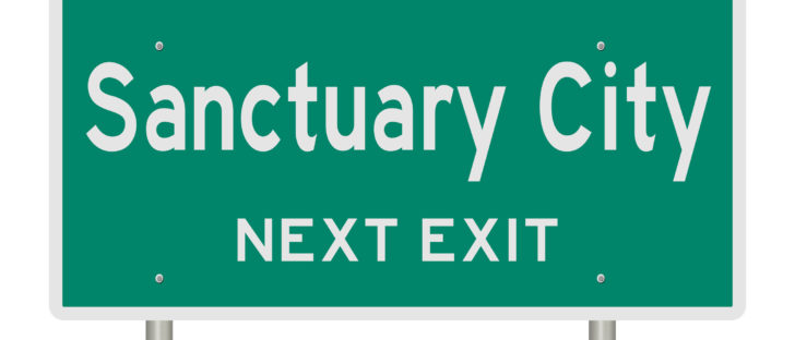 Sanctuary City Highway Sign