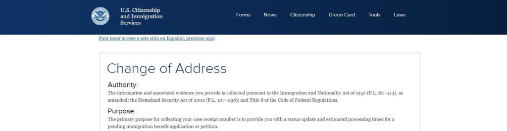 How to notify U S  immigration about a change of address