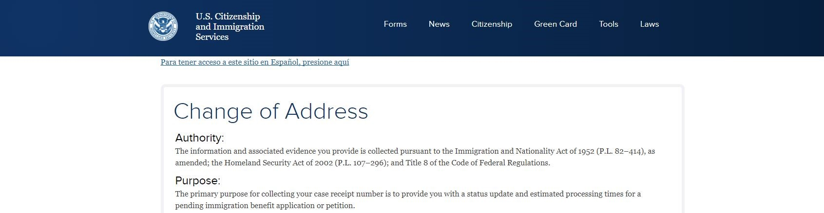 Changing your address with the USCIS can be done online.