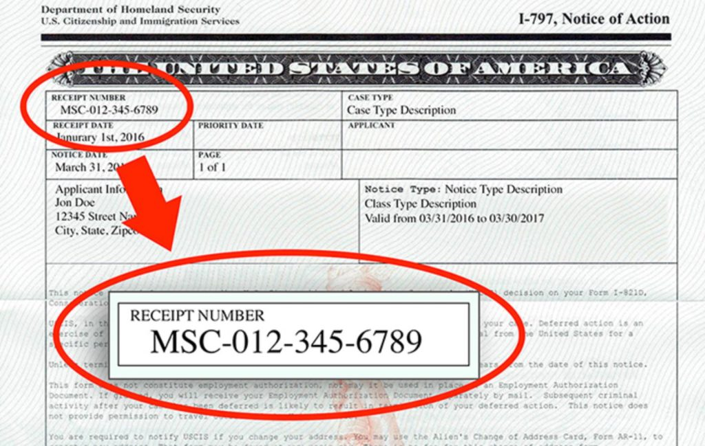 Your USCIS receipt number will indicate the service center handling your application.