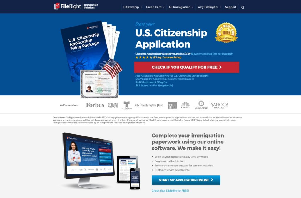 Filling out your Form N-400 Application for Naturalization can be done online.