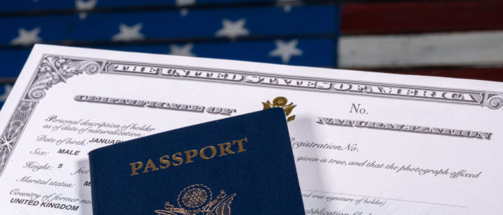 The U.S. citizenship process starts with obtaining a green card.