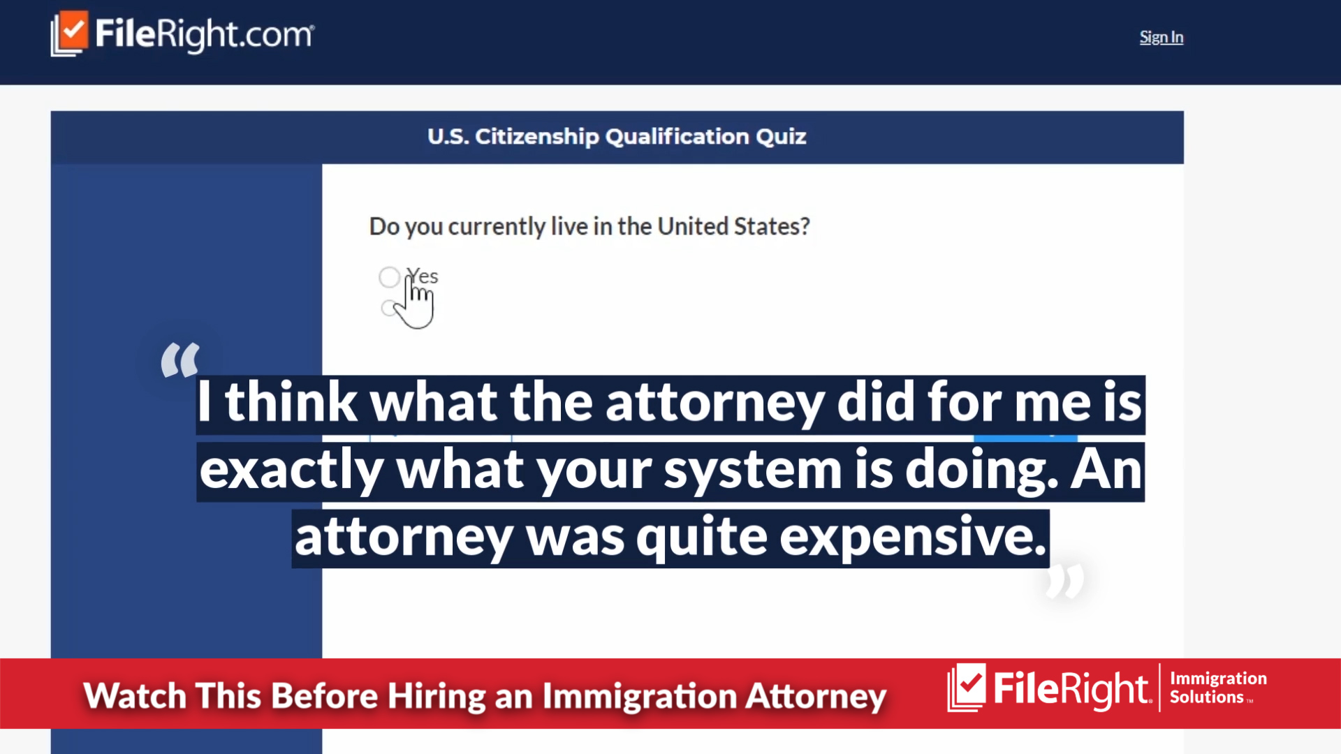 You may not need an immigration attorney to file your immigration application.