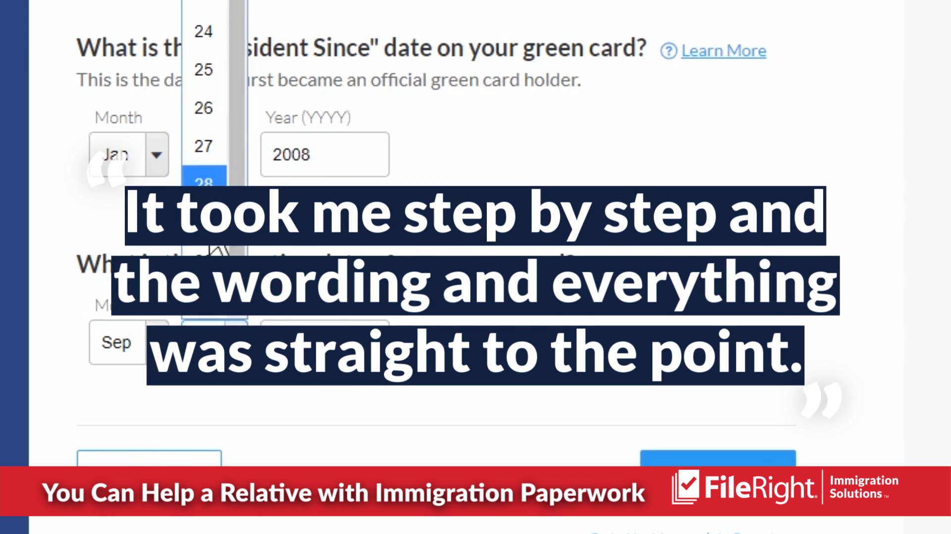 If you'd like to help a relative with immigration paperwork consider FileRight.