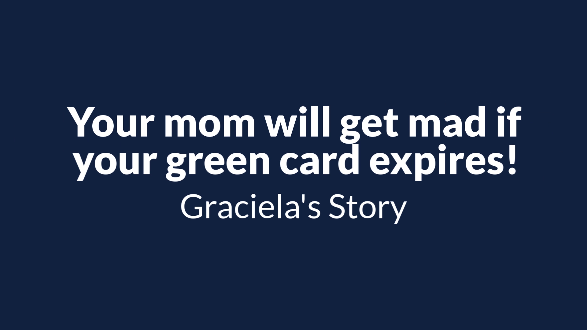 Renewing your green card is important. Graciela trusted FileRight to get the application done.