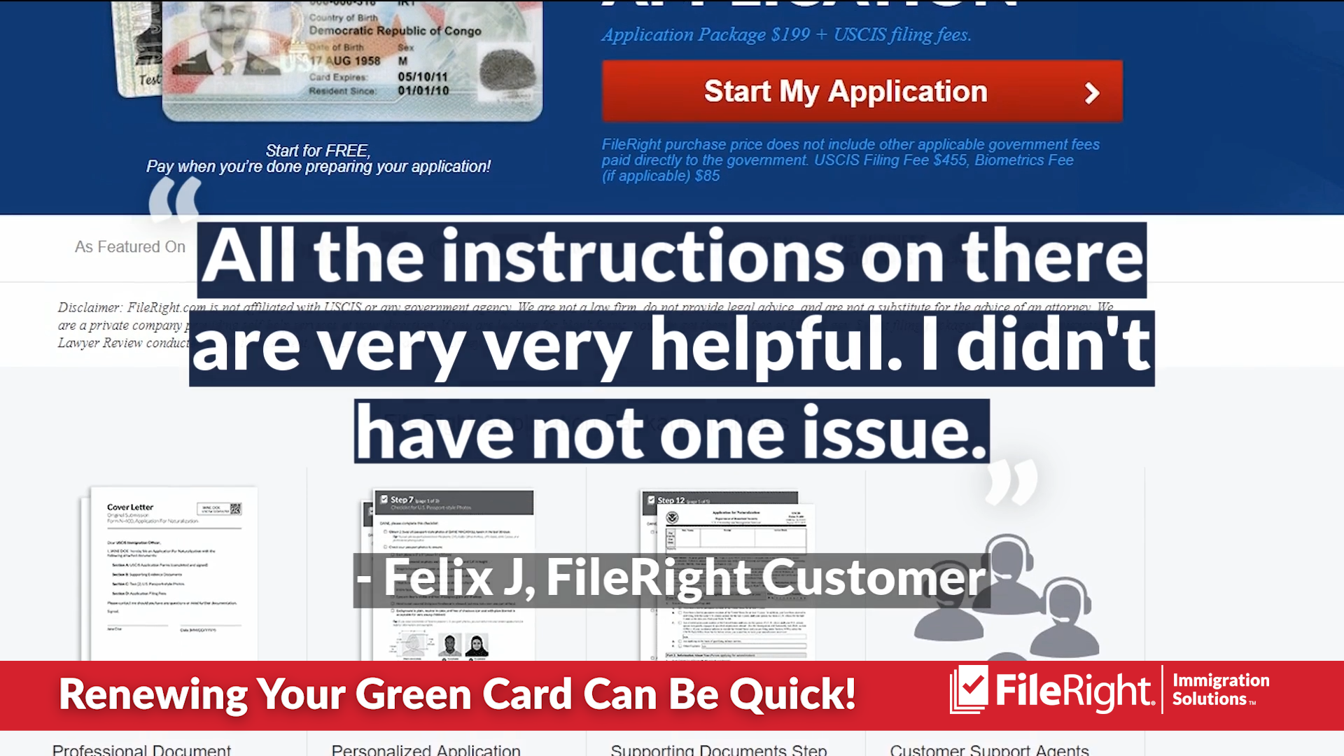 Your next green card renewal can be quick.