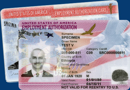 Employment Authorization Card Using Fileright For Uscis Form I 765