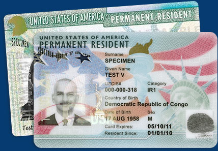 official green card application site